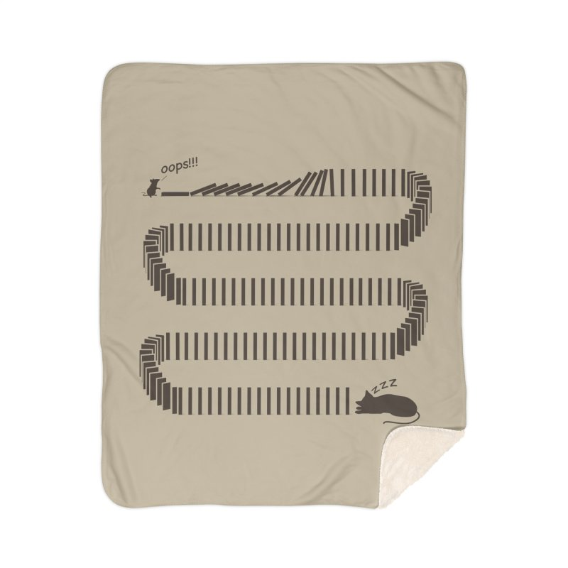 The Domino Effect Home Blanket by B4 Abraham's Artist Shop