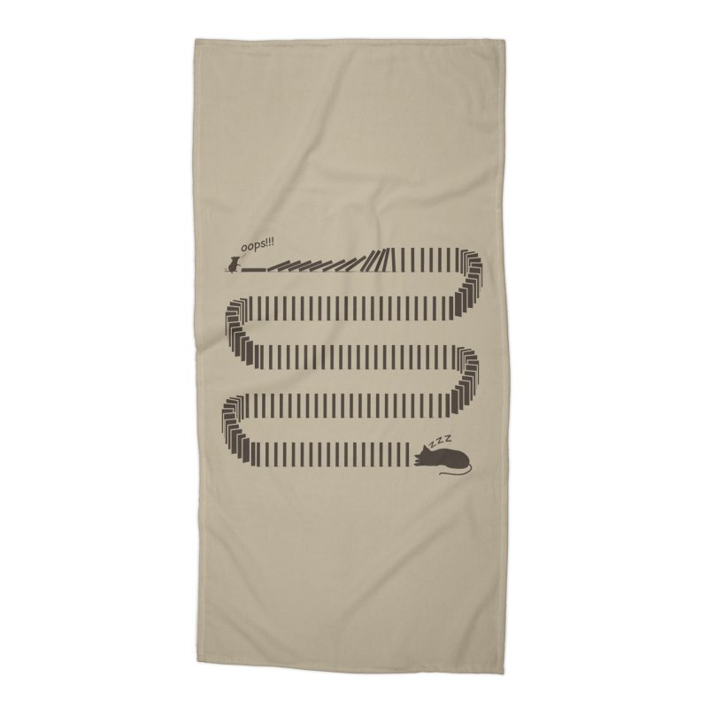 The Domino Effect Accessories Beach Towel by B4 Abraham's Artist Shop