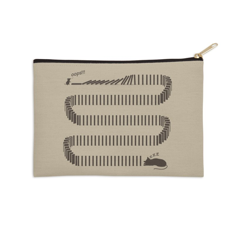 The Domino Effect Accessories Zip Pouch by B4 Abraham's Artist Shop
