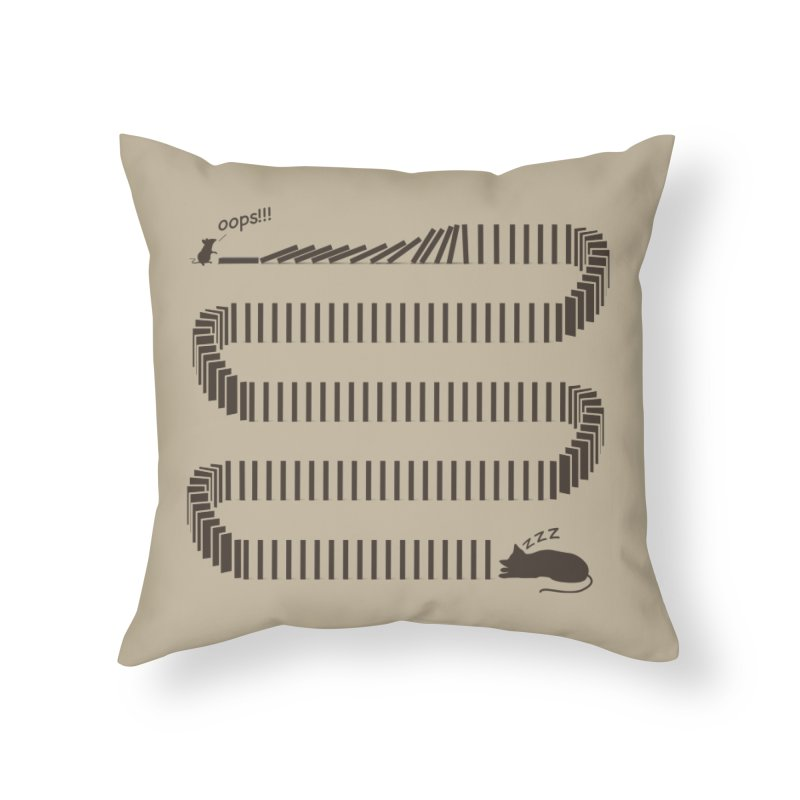 The Domino Effect Home Throw Pillow by B4 Abraham's Artist Shop