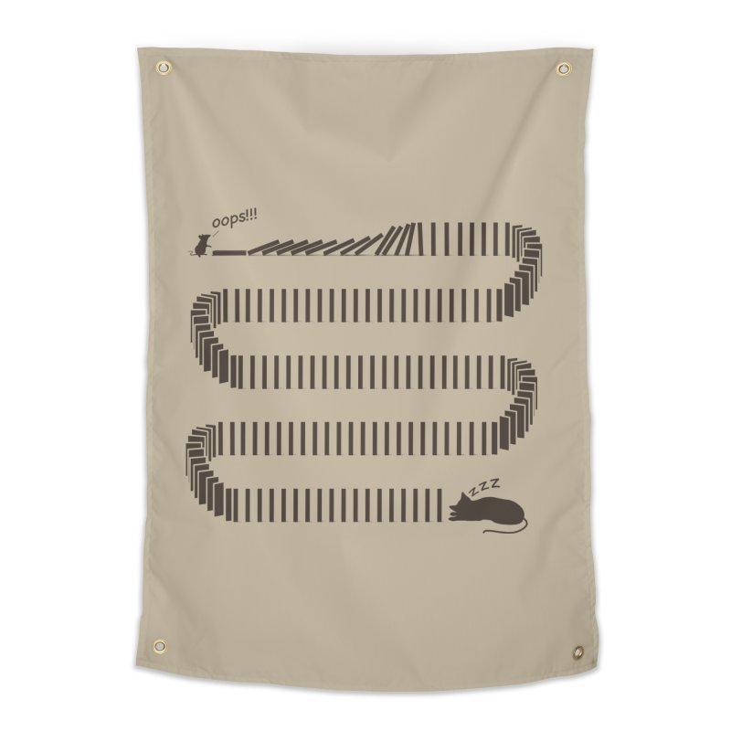 The Domino Effect Home Tapestry by B4 Abraham's Artist Shop