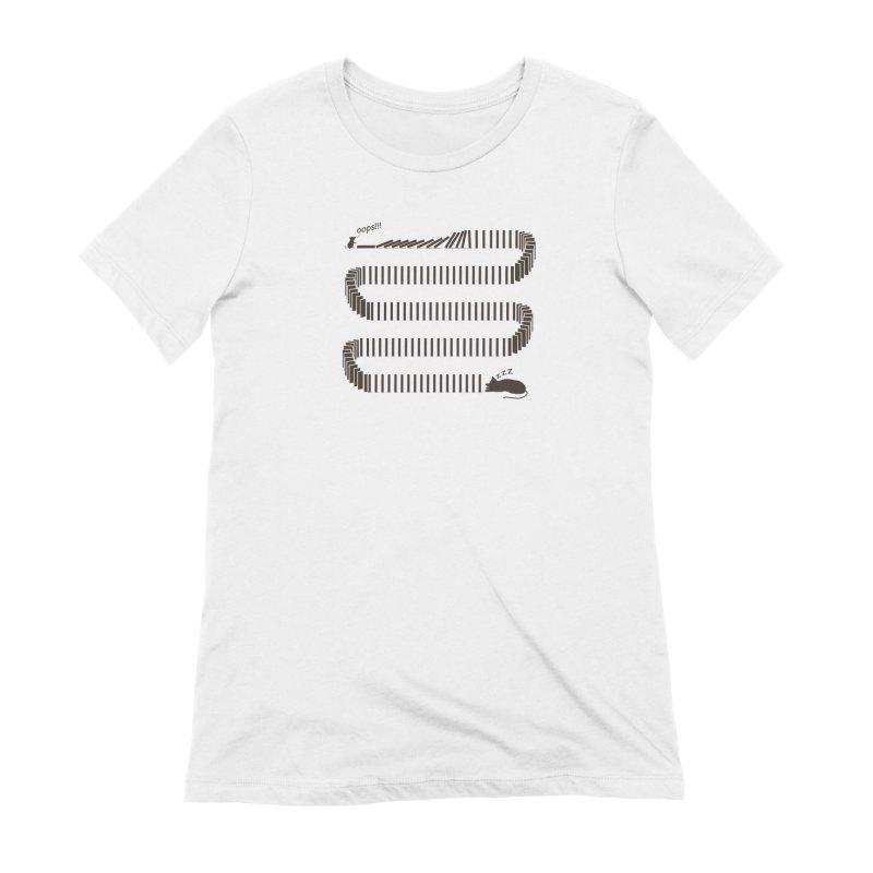 The Domino Effect Women's T-Shirt by B4 Abraham's Artist Shop