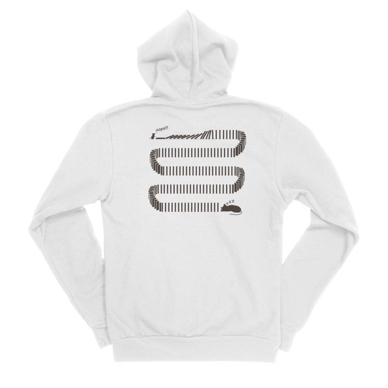 The Domino Effect Women's Zip-Up Hoody by B4 Abraham's Artist Shop