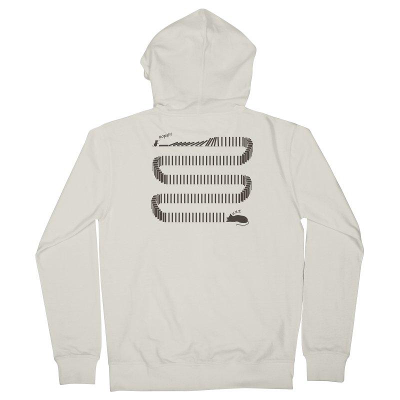 The Domino Effect Men's Zip-Up Hoody by B4 Abraham's Artist Shop