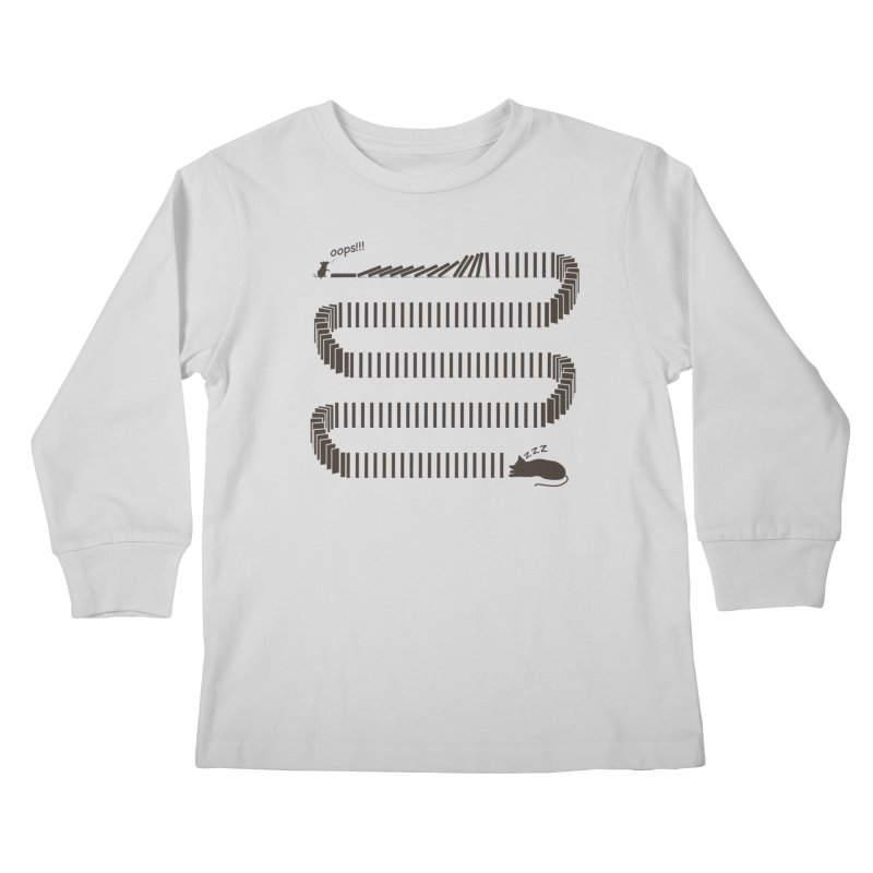 The Domino Effect Kids Longsleeve T-Shirt by B4 Abraham's Artist Shop