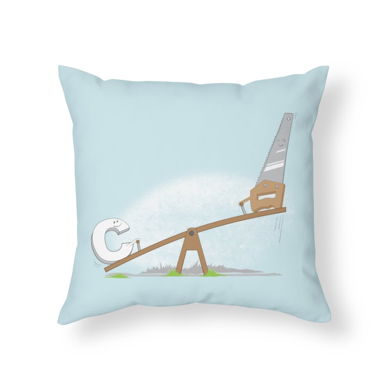 C-saw Home Throw Pillow by B4 Abraham's Artist Shop