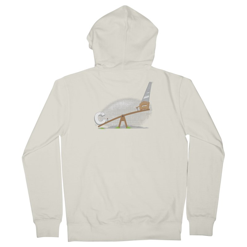 C-saw Men's Zip-Up Hoody by B4 Abraham's Artist Shop