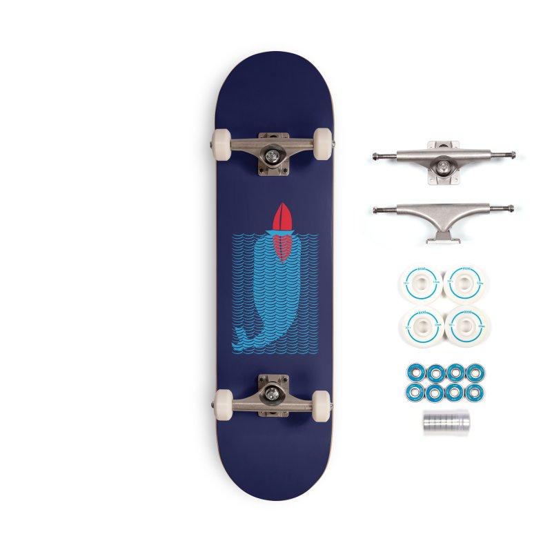 Stealth Whale Accessories Skateboard by B4 Abraham's Artist Shop