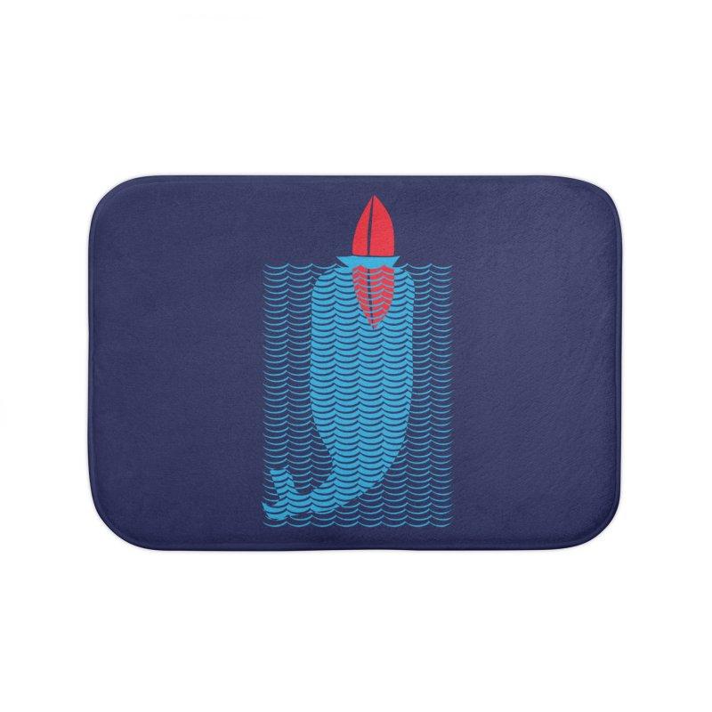 Stealth Whale Home Bath Mat by B4 Abraham's Artist Shop