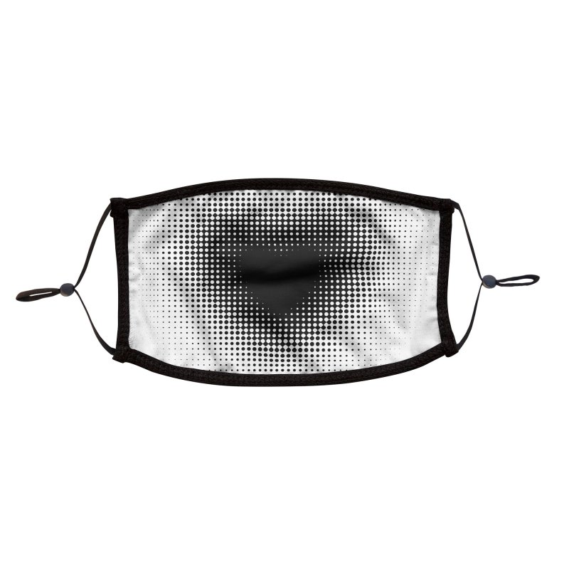 Love Dots white Accessories Face Mask by B4 Abraham's Artist Shop