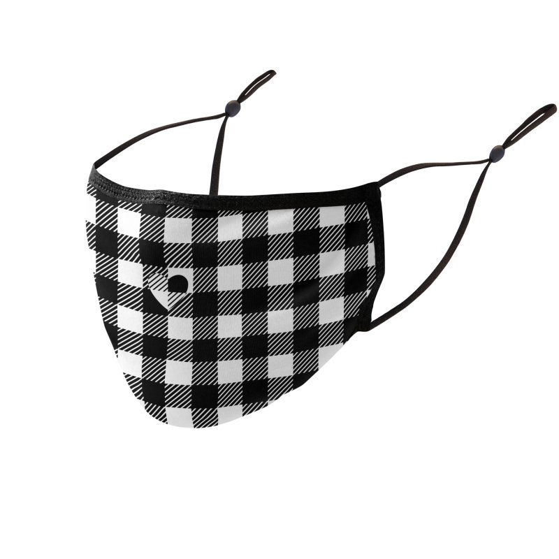 Gingham Love - Black Accessories Face Mask by B4 Abraham's Artist Shop