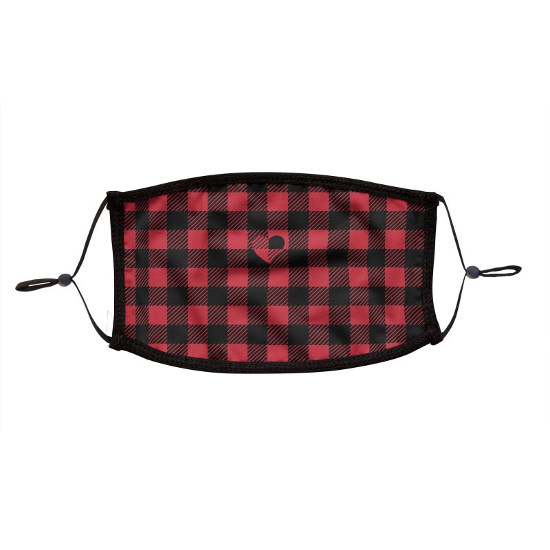 Gingham Love - Red Accessories Face Mask by B4 Abraham's Artist Shop