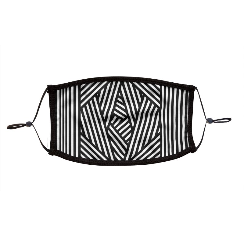 Layered Stripe - Black Accessories Face Mask by B4 Abraham's Artist Shop