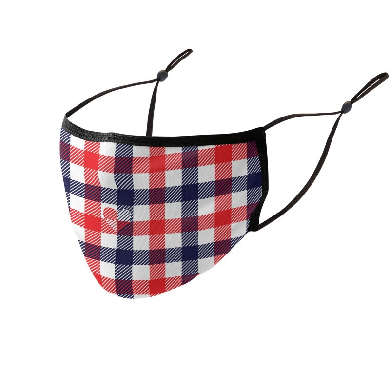 Gingham Mate Accessories Face Mask by B4 Abraham's Artist Shop
