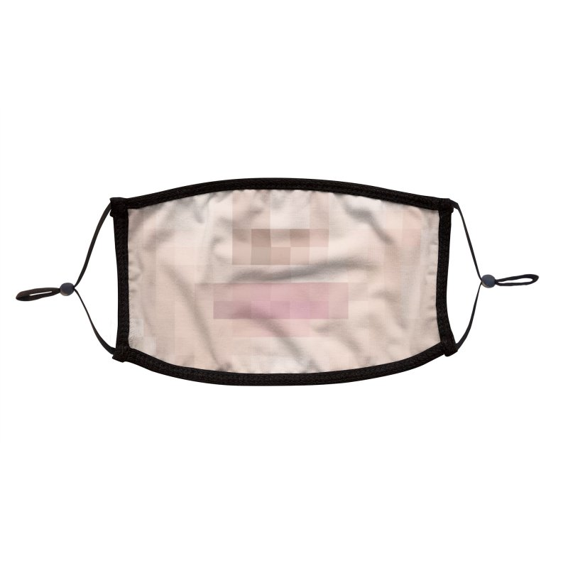 Fixel Mask Pale Accessories Face Mask by B4 Abraham's Artist Shop