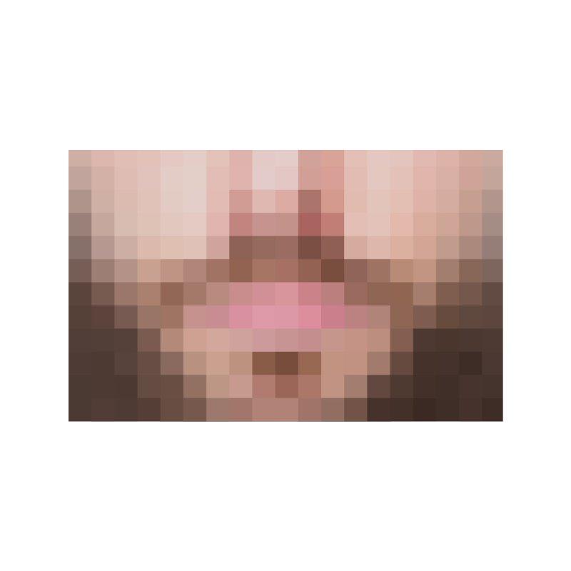 Pixel Mask Beard Accessories Face Mask by B4 Abraham's Artist Shop
