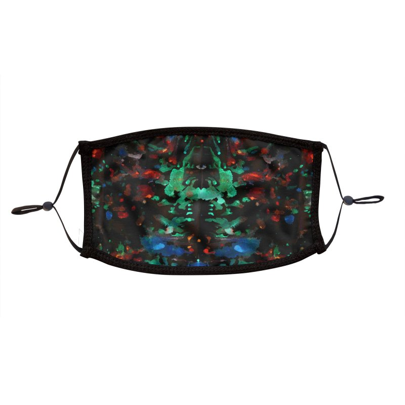 Ster Rorschach Accessories Face Mask by B4 Abraham's Artist Shop