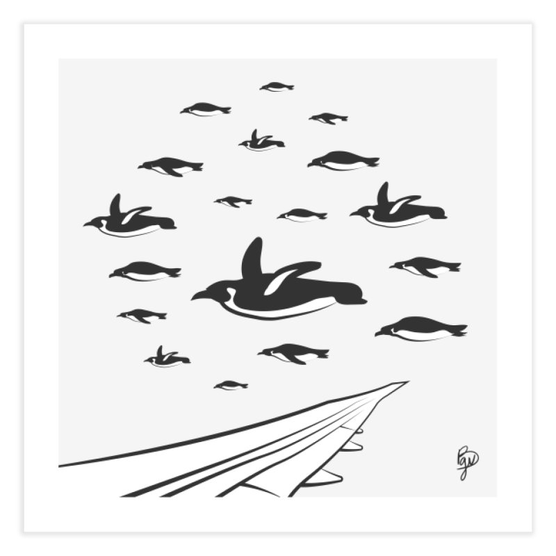 Flock of Penguins Home Fine Art Print by Vince Baarson's Artist Shop