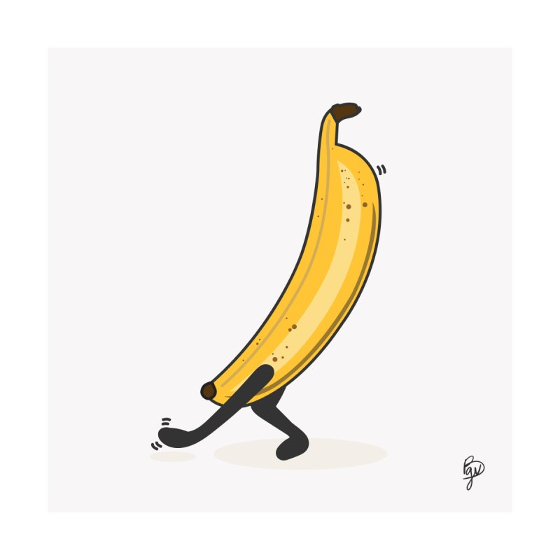 Dancing Banana Men's T-Shirt by Vince Baarson's Artist Shop