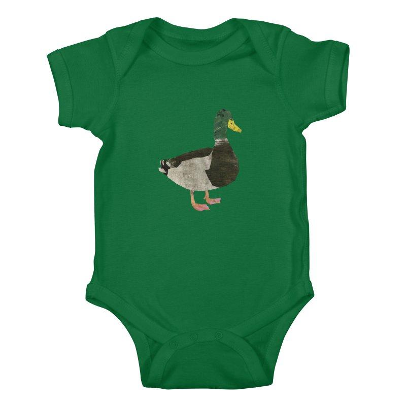 Mallard Duck Kids Baby Bodysuit by babbangaelg