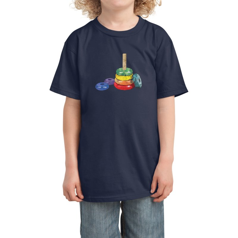 Rainbow stacking toy Kids T-Shirt by babbangaelg