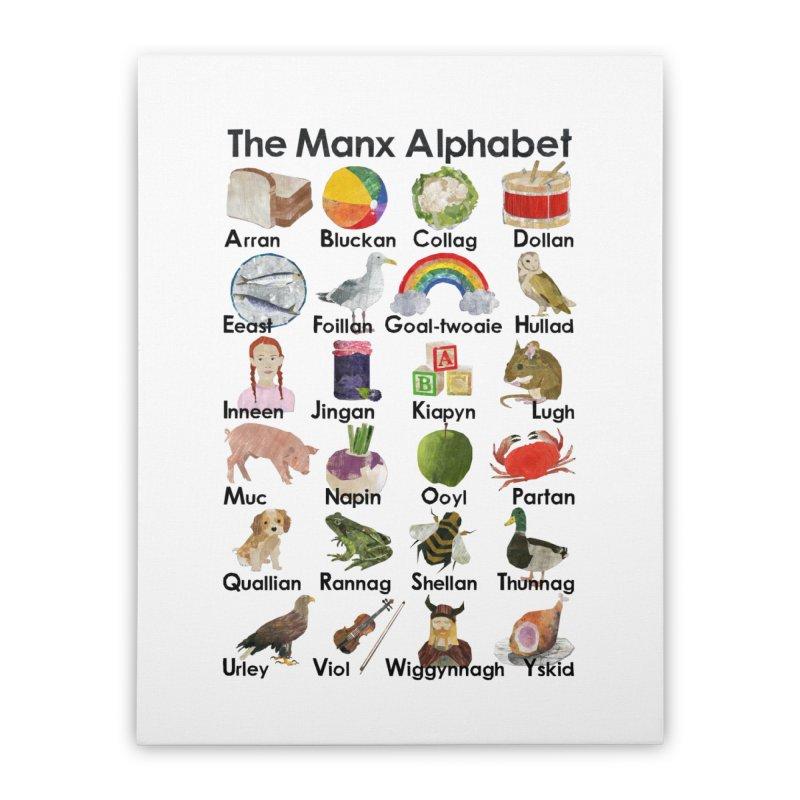 A Manx Alphabet Home Stretched Canvas by babbangaelg