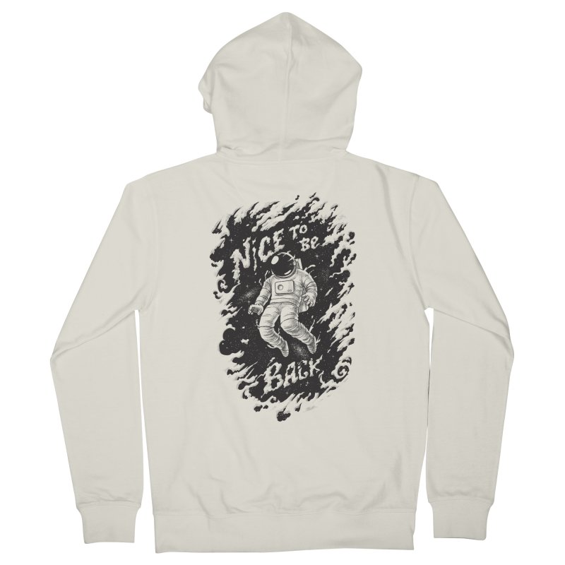 Nice To Be Back Men's French Terry Zip-Up Hoody by babitchun's Artist Shop