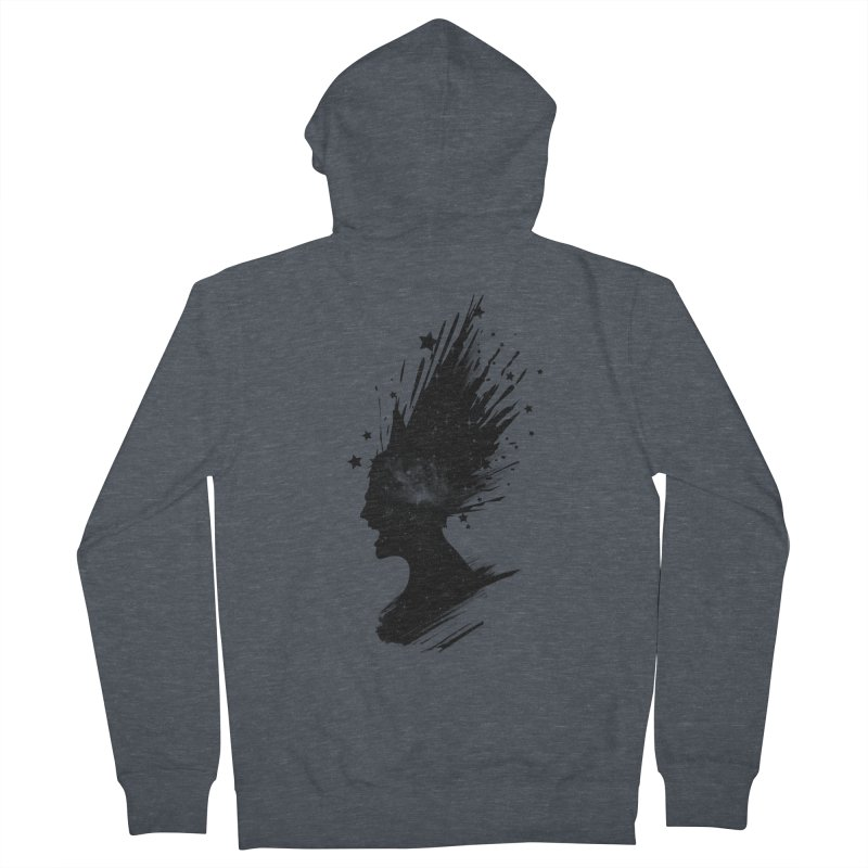Mind Blown Men's French Terry Zip-Up Hoody by babitchun's Artist Shop