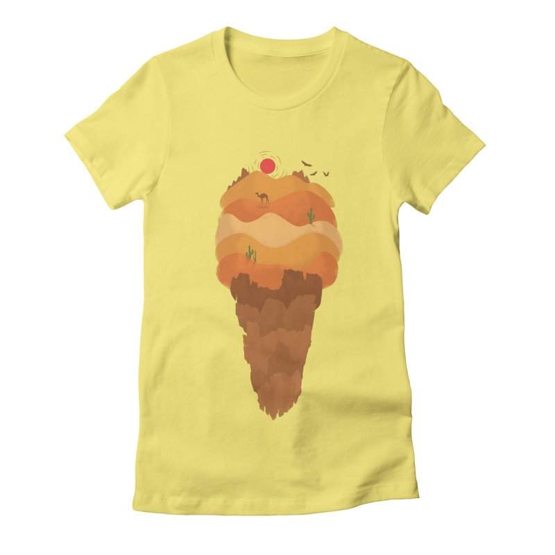 Dessert Women's Fitted T-Shirt by babitchun's Artist Shop