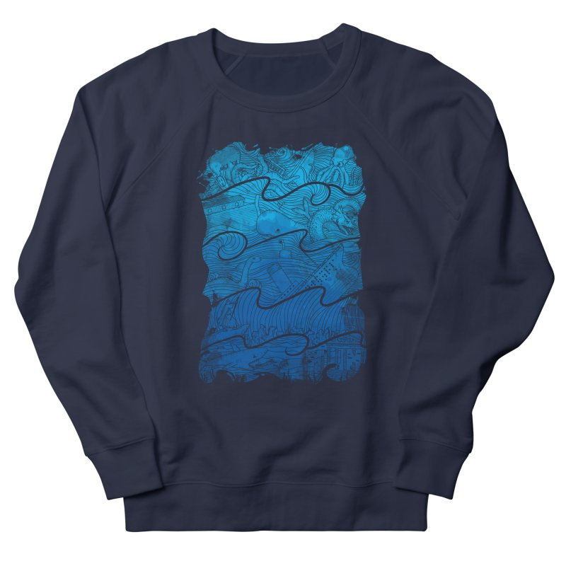 Thousand Stories Men's French Terry Sweatshirt by babitchun's Artist Shop