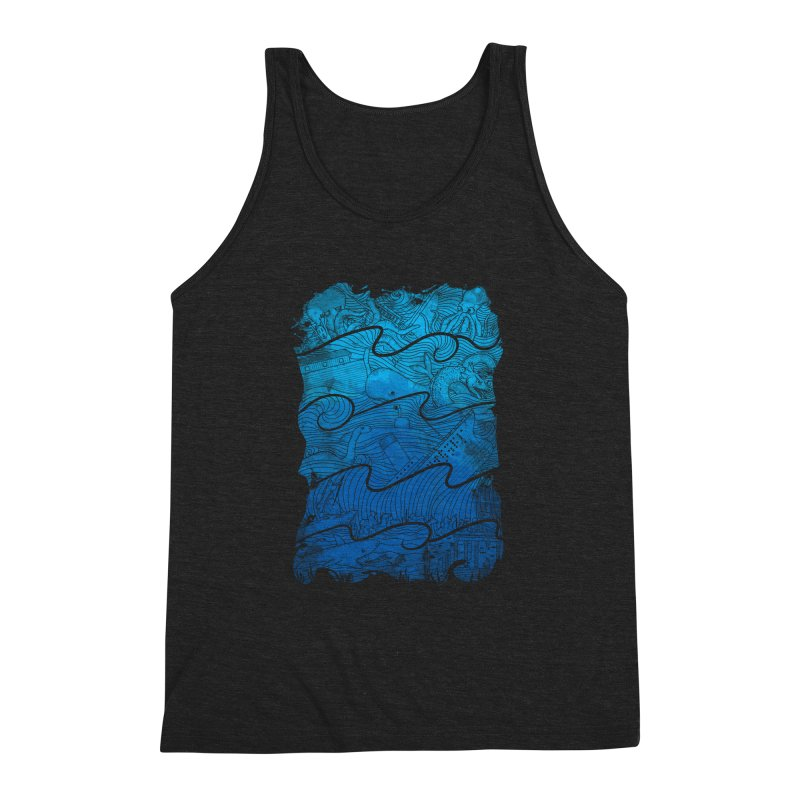 Thousand Stories Men's Triblend Tank by babitchun's Artist Shop
