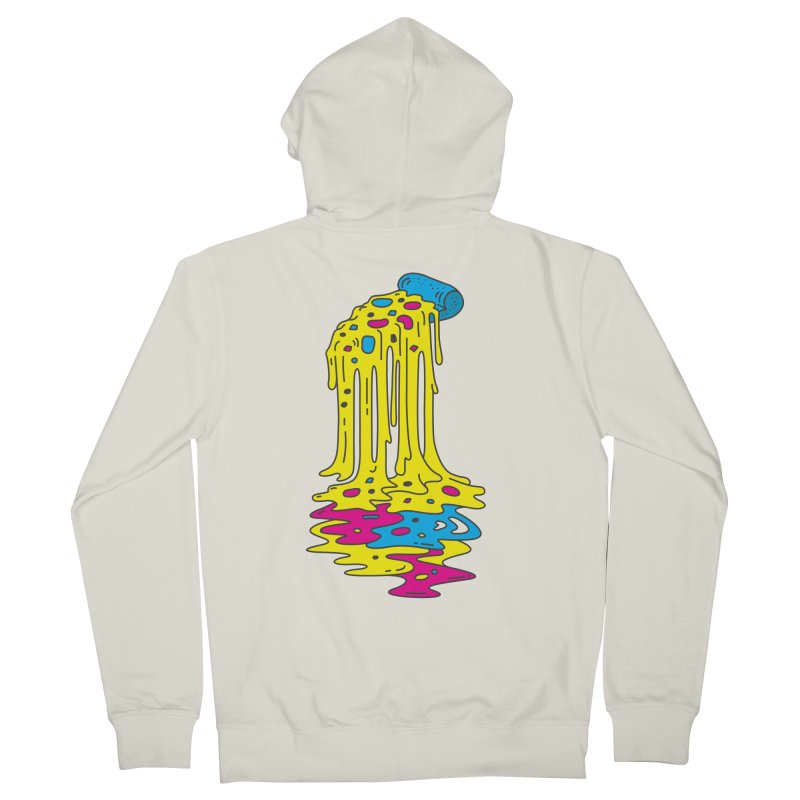 CMYK Overload Men's French Terry Zip-Up Hoody by babitchun's Artist Shop