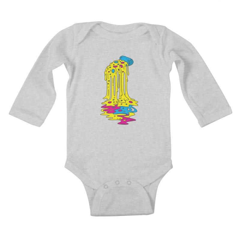 CMYK Overload Kids Baby Longsleeve Bodysuit by babitchun's Artist Shop