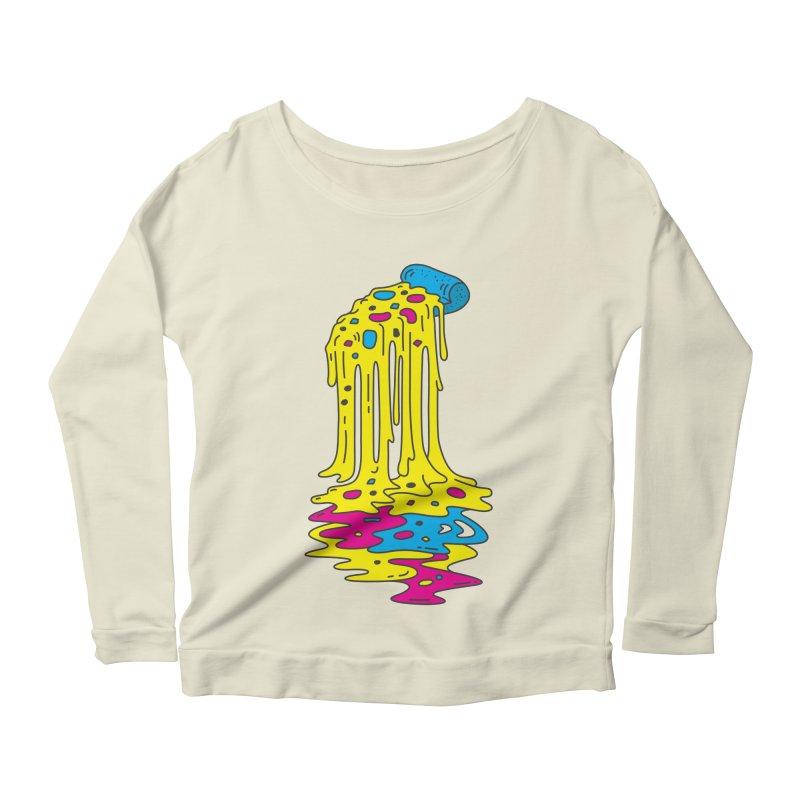 CMYK Overload Women's Scoop Neck Longsleeve T-Shirt by babitchun's Artist Shop