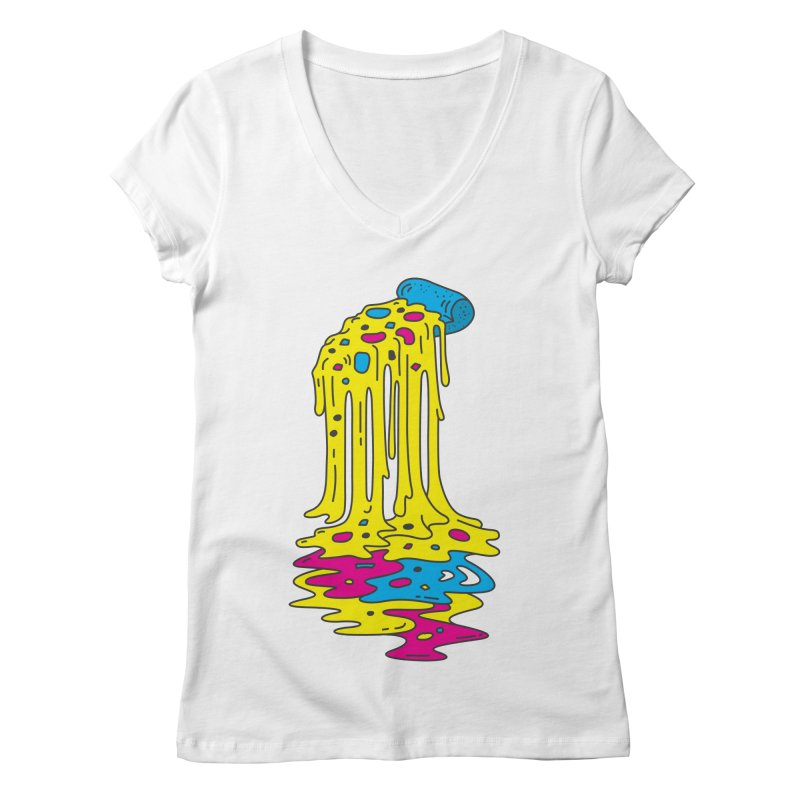 CMYK Overload Women's V-Neck by babitchun's Artist Shop