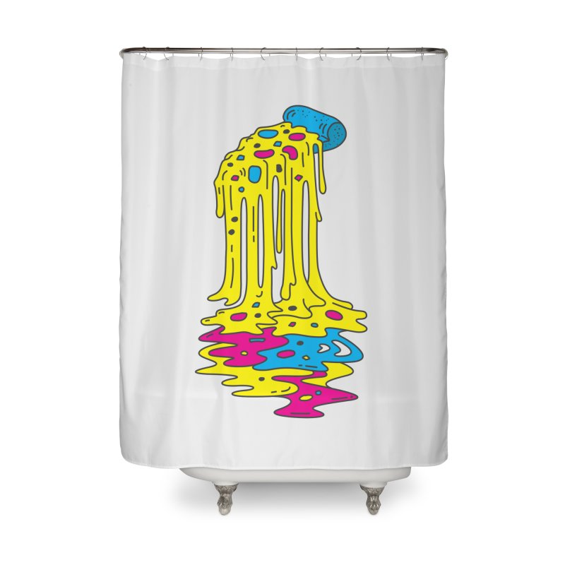 CMYK Overload Home Shower Curtain by babitchun's Artist Shop