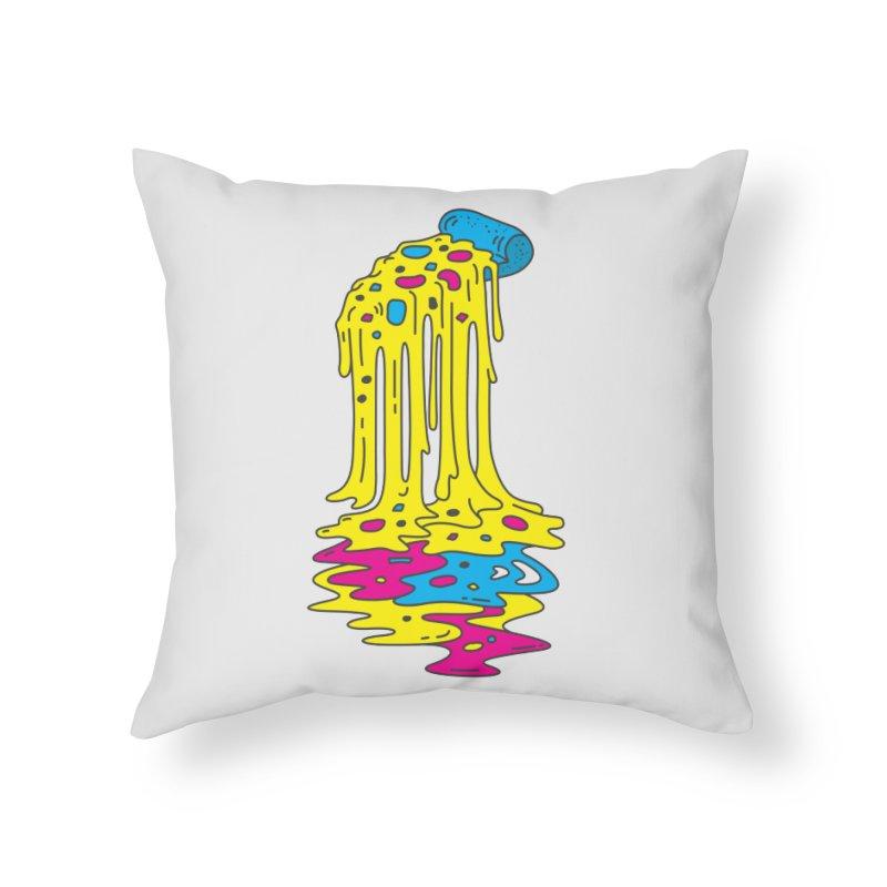 CMYK Overload Home Throw Pillow by babitchun's Artist Shop