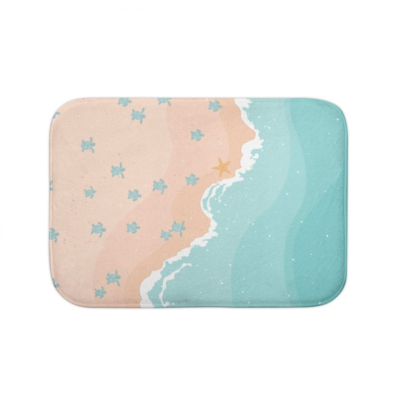 Sea Turtles Home Bath Mat by babitchun's Artist Shop
