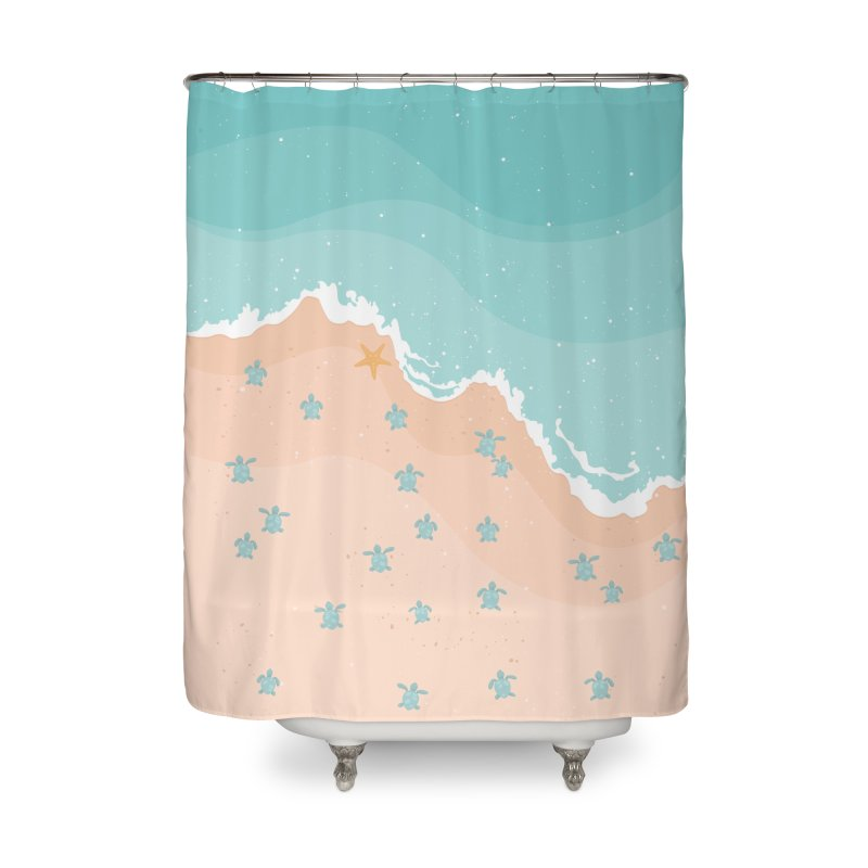 Sea Turtles Home Shower Curtain by babitchun's Artist Shop