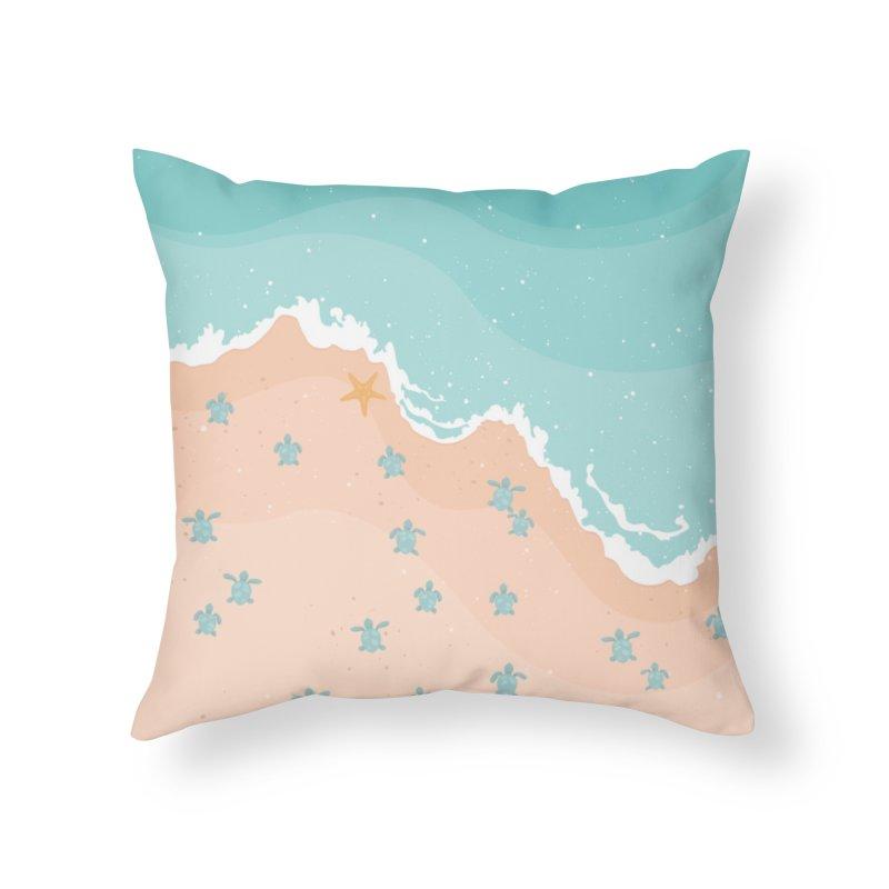 Sea Turtles Home Throw Pillow by babitchun's Artist Shop