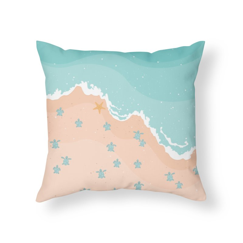 Sea Turtles Home Throw Pillow by babitchun's Artist Shop
