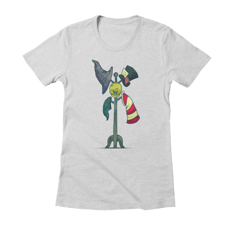 An Unexpected Party Women's Fitted T-Shirt by babu's Artist Shop