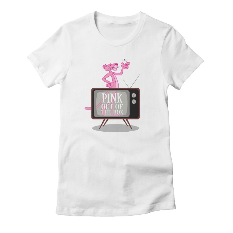 Pink Out of the Box Women's Fitted T-Shirt by babu's Artist Shop