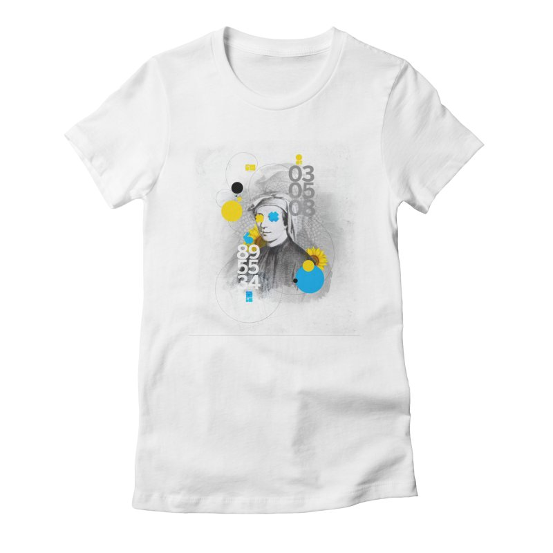 Fibonacci Women's Fitted T-Shirt by babu's Artist Shop