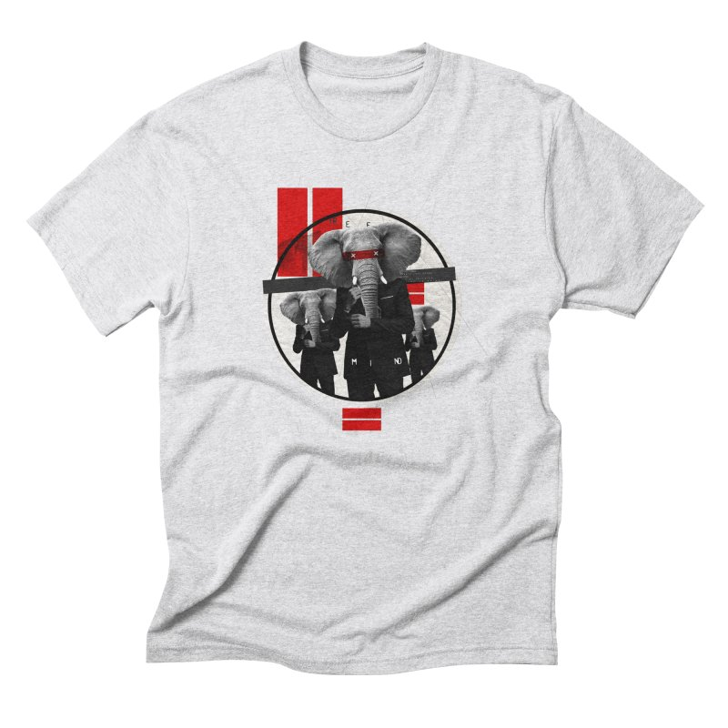 Elephants Men's Triblend T-shirt by babu's Artist Shop