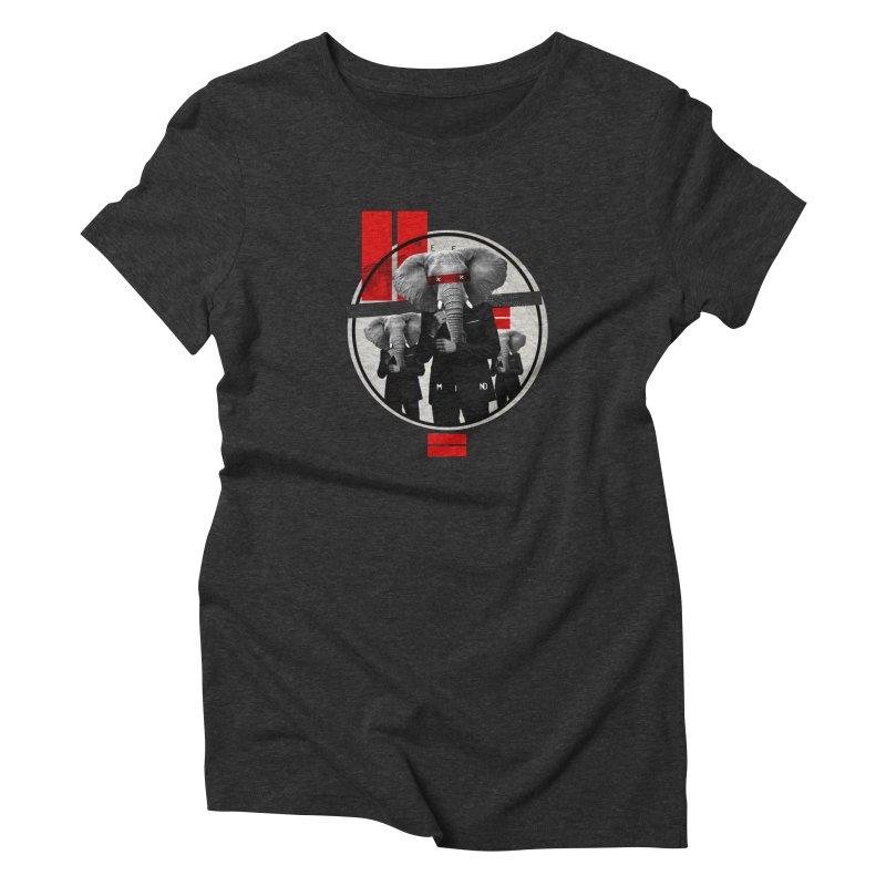 Elephants Women's Triblend T-Shirt by babu's Artist Shop