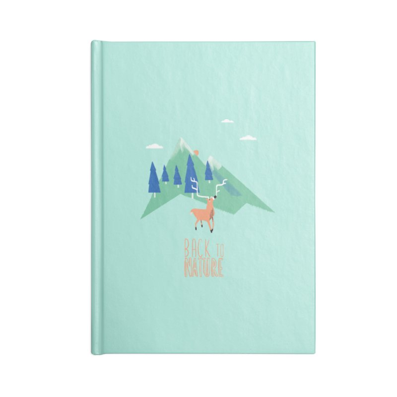 Back to Nature Accessories Blank Journal Notebook by Babykarot Shop