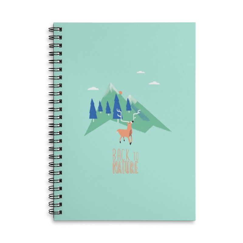 Back to Nature Accessories Lined Spiral Notebook by Babykarot Shop