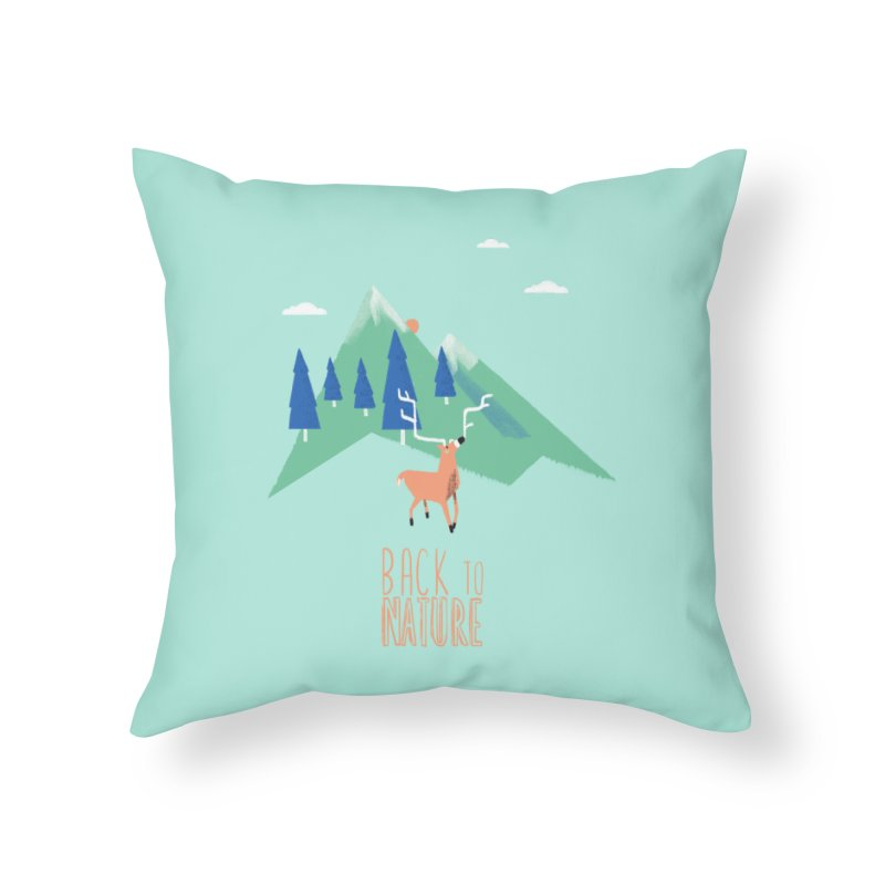 Back to Nature Home Throw Pillow by Babykarot Shop