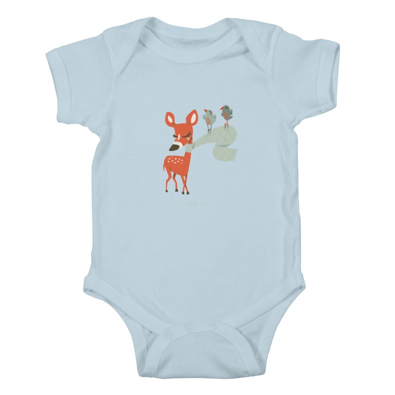Winter Deer Kids Baby Bodysuit by Babykarot Shop
